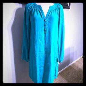 NWT Banana Republic turquoise blue dress size 6